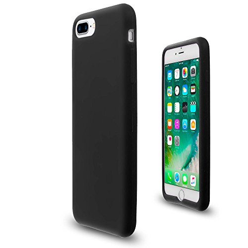 Black Soft Silicone Rubber Case Flexible Skin Jelly Cover for iPhone 7 Plus