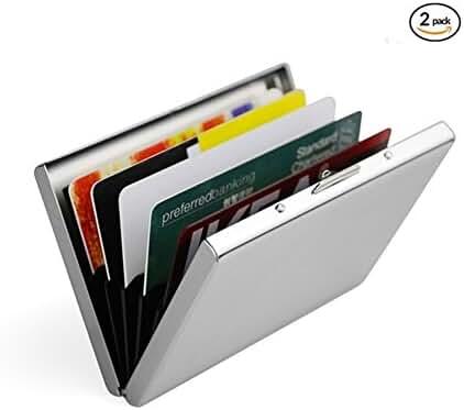 Artmi Credit Card Holder RFID Aluminum Business Card Holder Automatic Pop-up Card Case