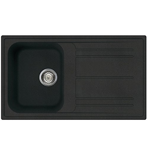 SIA 1.0 Bowl Italian Design Composite Kitchen Sink In Black ...