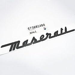 US85 Maserati Trunk Nameplate Logo Emblem Badges Ghibli Coupe GranSport GranTurismo Quattroporte OEM (Matte Black)