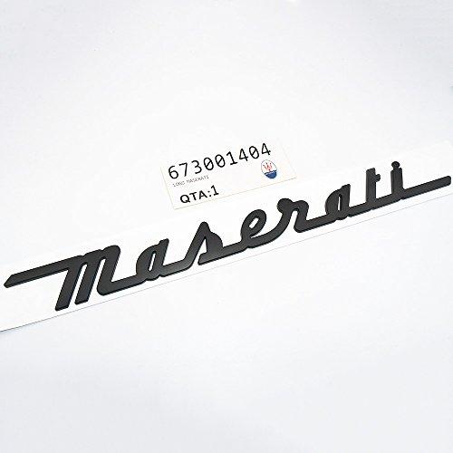 (US85 Maserati Trunk Nameplate Logo Emblem Badges Ghibli Coupe GranSport GranTurismo Quattroporte OEM (Matte Black))