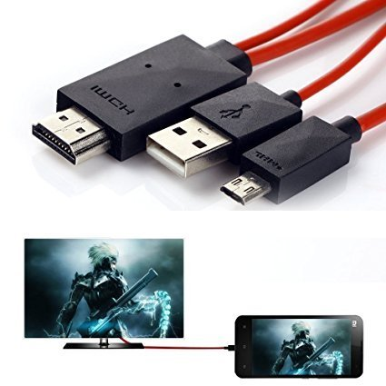 Phone to TV Cable,Phoebe168 6.5 Feet 11 Pin MHL Micro USB to HDMI Adapter Cable 1080P HDTV for Samsung Galaxy S5/S4/S3/Note 2/Note3 Galaxy Tab 3 8.0, Tab 3 10.1, Tab Pro, Galaxy Note 8, Note Pro 12.2