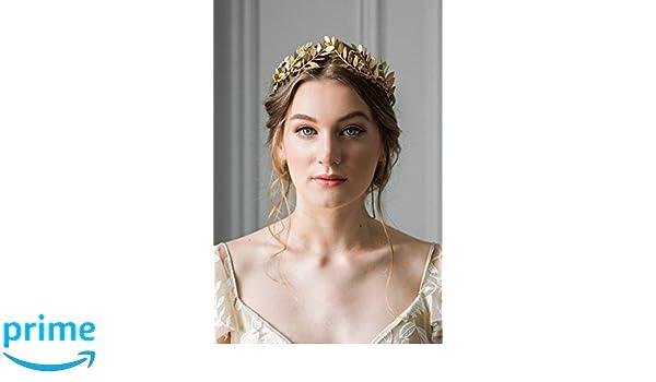Kercisbeauty - Pendientes para novia, novia, novia, dama de honor, corona con diamantes de imitación, diseño barroco, estilo vintage, color dorado: ...