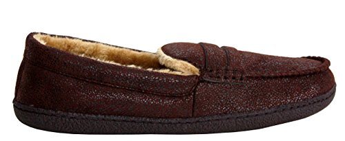 Leggere Foderate Di Brown Mocassino E Pelliccia Invernali Con Pantofole A Calde Da Forma Uomo Comode 0UICxAwq