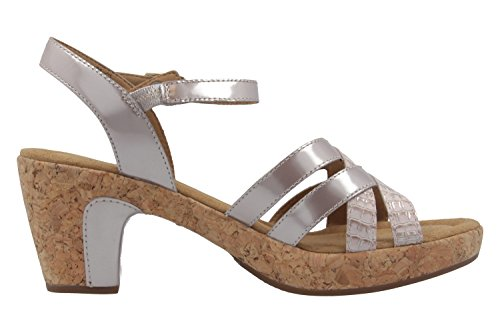 GABOR comfort - Damen Sandaletten - Lack Pink Schuhe in Übergrößen