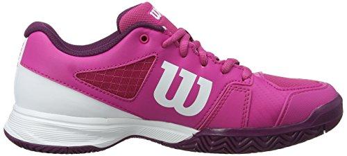 de Joueurs Berry aux 000 JR Violet de Synthétique Terrain White 5 2 Tissu Pro Tout Niveau Dark Tennis Rush Convient Very Wilson de Enfant Tout Chaussures pour Type Purple 0SwxqY