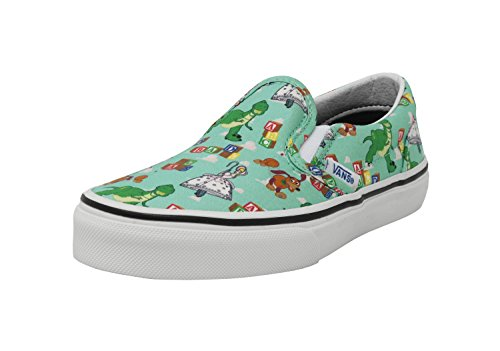 (Vans Kids Classic Slip On Andy's Toys Disney Pixar Toy Story Movies Shoes)