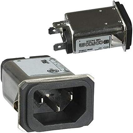 Pack of 3 15EJS1 PWR ENT RCPT IEC320-C14 PANEL QC