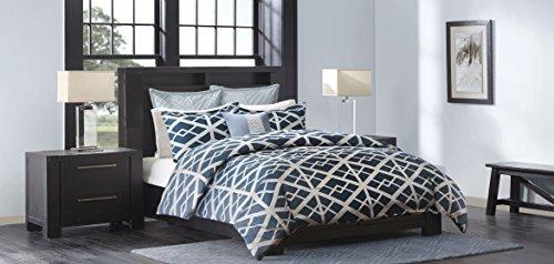 Metropolitan Home Kenmare Mini Comforter Set, Queen, Blue