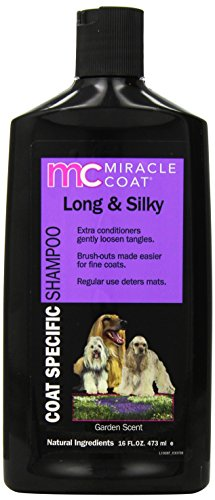 Miracle Coat Dog Shampoo, Coat Specific for Long and Silky Coats, 16-Ounce Bottle ()