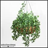 Artificial English Ivy in 22in Hanging Basket, Outdoor Rated