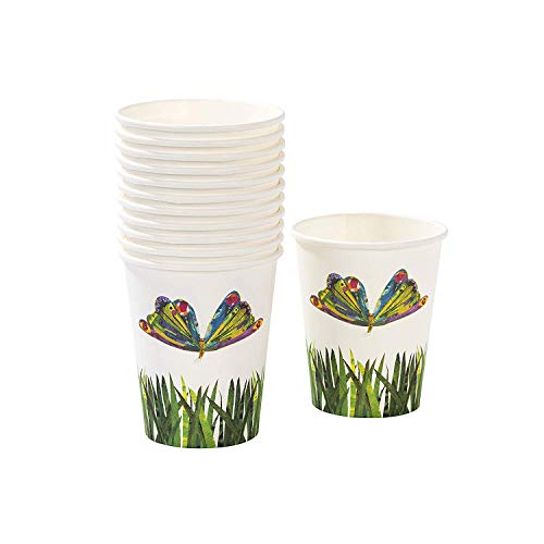 Talking Tables The Very Hungry Caterpillar Kids Birthday Paper Cup (24 Pack), 4, Green]()