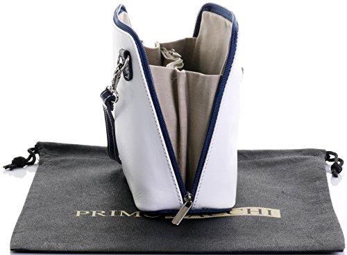 Marino Custodia Blu Di In Sacchi A O Primo micro Una Small Tracolla Borsetta Bianco Croce Italiana Marca Protettiva nbsp;include Borsa Corpo Pelle amp; FBqqn14