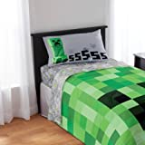 #3: Minecraft Bedding Sheet Set - Pillow Case, Fitted Sheet, and Standard Sheet