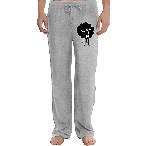 UGWATQ Fashion The Black Sheep Jogger Pants Running Trousers Sweatpants Light Weight Jersey Pants (Trousers Black Jersey)