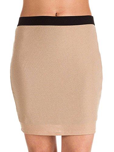 Volcom Junior's Womens' Blingtang Fitted Mini Skirt, Mushroom, M