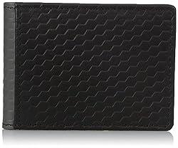 Buxton Men's Bellamy RFID Blocking Leather Front Pocket Slim Flip Wallet with Money Clip, black, One Size
