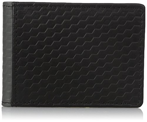 Buxton Men's Bellamy RFID Blocking Leather Front Pocket Slim Flip Wallet with Money Clip, black, One Size (Flip Clip Money)