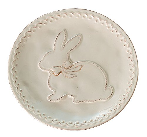 Burton & Burton Raised Easter Bunny Ceramic Salad Size Plate