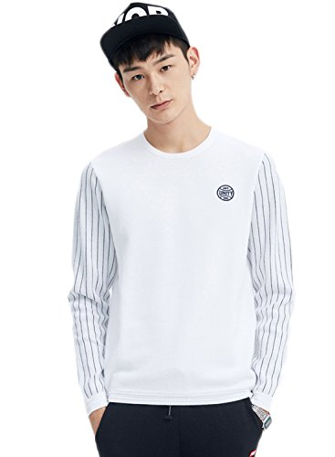 meters-bonwe-mens-fashion-long-striped-sleeve-pullover-knitted-sweater-white-xl