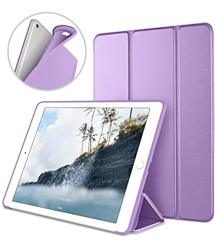 iPad Case for iPad Mini 4, DTTO [Anti-Scratch] Ultra Slim Lightweight [Auto Sleep/Wake] Smart Case Trifold Cover Stand with Flexible Soft TPU Back Cover for iPad mini4, Clove Purple