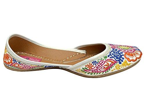 Step N Style Indian Punjabi Dames Dames Boho Mojari Jutti Khussa Saree Schoenen