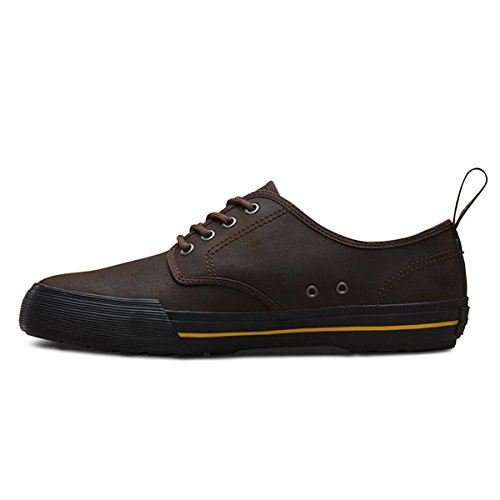 Brown Greasy Vulc Dark Derbys Unisex 201 Martens Brown Lamper Dr Adults' Pressler XTqBB