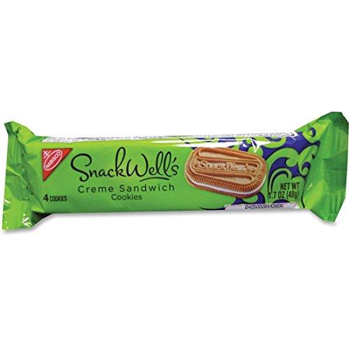 (Marjack Nabisco Snackwell Van Creme Sndwch Cookies-Vanilla Creme Cookies, 1.7oz., 60/CT, White)