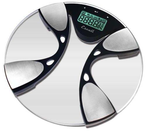Escali BFBW200 Glass Body Fat/ Body Water Digital Bathroom Scale, 440lb/200 Kg by Escali