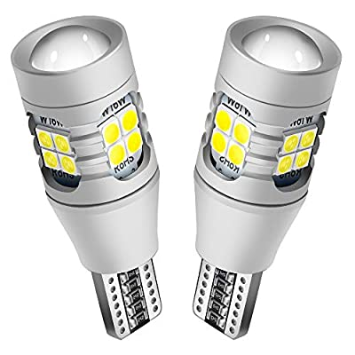 NINGLE 921 LED Reverse Light Bulb White Extremely Bright 906 912 T15 W16W 579 921 LED Bulb for Backup Reverse Light Pickup Truck Cargo Light Bulbs Canbus Error Free 6000K (Pack of 2): Automotive