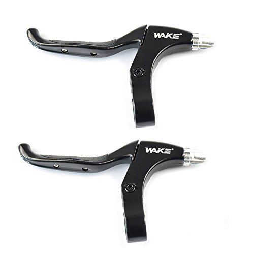 FOMTOR Bicycle Brake Handle Brake Lever 1 Pair Universal Aluminum Alloy 4-Finger Bike Brake Levers Brake Handles 2.2cm Diameter for mountain bike, road bike, folding bike, MTB