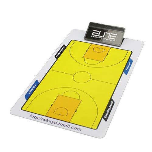 Professionelles Taktik-Brett für Fußball, Basketball, für Trainer, für Training und Spiele, mit Trockenradierer, Klemmbrett, Magnetbrett, 1 Set mit Stift und Radierer
