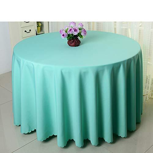GJD Hotel Tablecloth Solid Color Round Tablecloth Table Cloth (Color : O, Size : Diameter300cm(118inch)) -