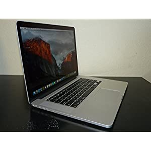 Apple MacBook Pro 15-Inch Retina Laptop Quad i7 2.3GHz / 16GB DDR3 Ram / 1TB PCI SSD / Geforce 750M 2GB Video / OS X Sierra / Thunderbolt / HDMI / USB 3.0