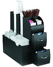 Mind Reader CAD01BLK Coffee Condiment and Accessories Caddy Organizer, Black