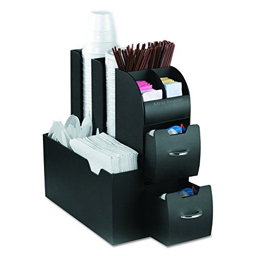 office coffee station. Mind Reader Coffee Condiment And Accessories Caddy Organizer, Black Office Station