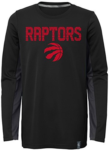 "NBA Kids & Youth Boys ""Assist Shooter"" Long Sleeve Tee, Toronto Raptors, Black, Youth Small(8)"