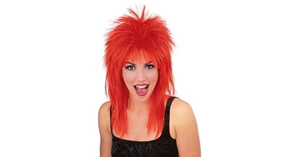 Amazon.com: Rubie s Disfraz Rock Star peluca con pinchos ...