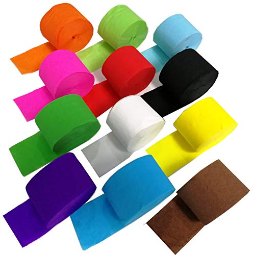 91.8 Feet Party Streamer Paper Decorations Crepe Paper