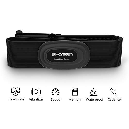 SHANREN Beat 20 Heart Rate Monitor [2019 Upgrade] Chest Strap Fitness Tracker Support Bluetooth and ANT+, Rechargeable Heart Rate Sensor with Vibration Alert, IP68 Waterproof Smart Activity Tracker (Best Ant Heart Rate Monitor 2019)