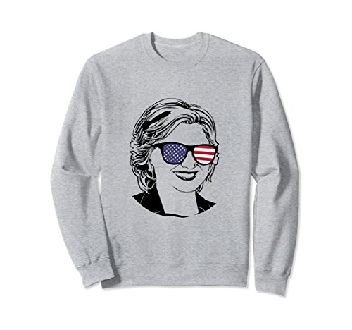 Unisex Democrat Sweater Hillary Clinton Sweatshirt Women Girls Large Heather - Hillary Clinton Sunglasses