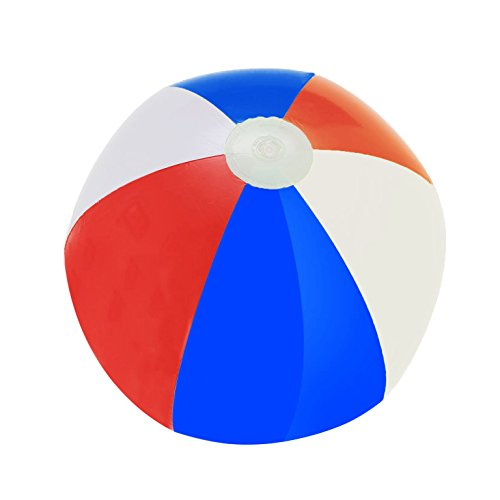(Patriotic Beach Ball Inflates - Pack Of 12 Red, White, And Blue Beach)