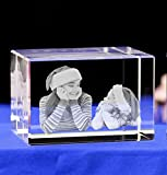 HAIRAN 3D Crystal Photo 3D Crystal Picture Cube