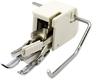 Alfa Prensatelas doble arrastre abierto, enmangue bajo, accesorio para máquina de coser, acero inoxidable y plástico