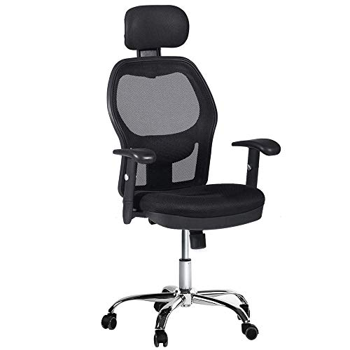 Winmi High Back Mesh Ergonomic Office Chair with Headrest and Armrest, 360 Degree Swivel Executive Computer Desk Task Chair,Back Lumbar Support, Black by Winmi (Image #9)