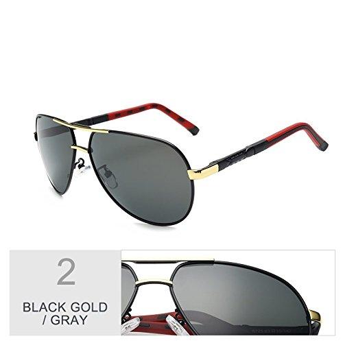 De Gris Black Espejo Para Gun Sol Polarizadas Aviador Lentes Oval Gold Gafas Gray TIANLIANG04 Hombres xw7PaEwY