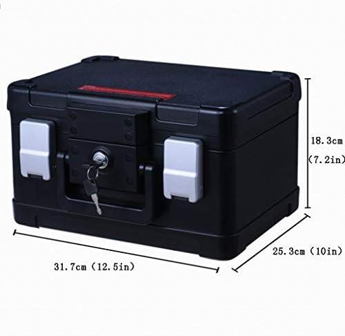 パーツボックス 安全なキー+ダブルポートロックデザインのベッドルームコレクションホーム小セーフパスワード保存キャビネットクリスマスギフト (Color : A, Size : 31.7*25.3*18.3cm)