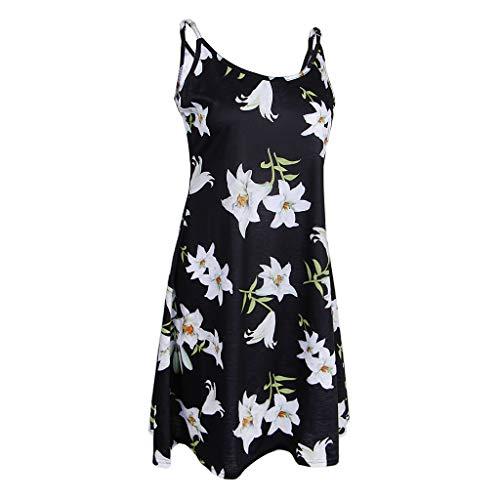 Ajustable Couleur Manches Fenteer Femme XL pour Sans d't fleur1 Robe Robe Bretelles S l Optionnel Fleurs Bwqw4Cgn0