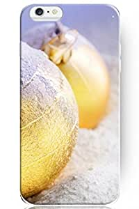 day case New Personalized Hard Golden Ball on Snowfield Holiday for iphone 6 4.7) Case