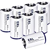 EBL CR2 Batteries 3V 800mAh DL-CR2 Lithium Photo Battery with PTC Protection for Mini 25 Mini 50 Mini 50S Mini 55 Pivi MP-100 & SP-1- Silver, 8 Pack